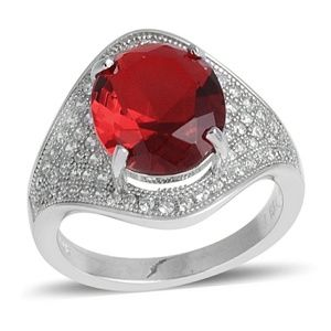Jewelry - RUBY STERLING SILVER RING